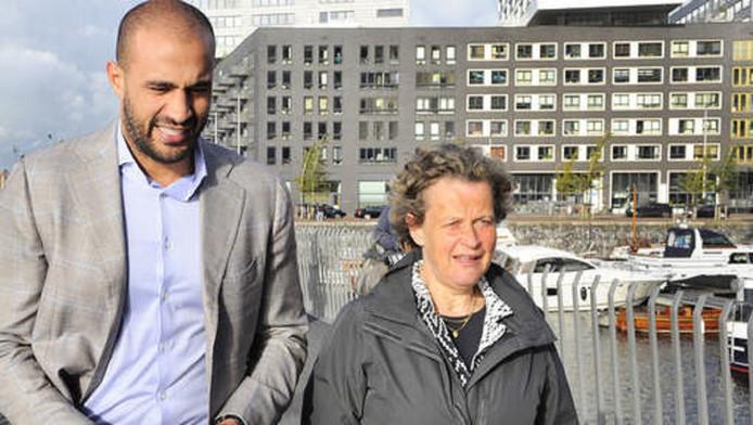 Bénédicte Ficq en Badr Hari op weg naar de rechtbank