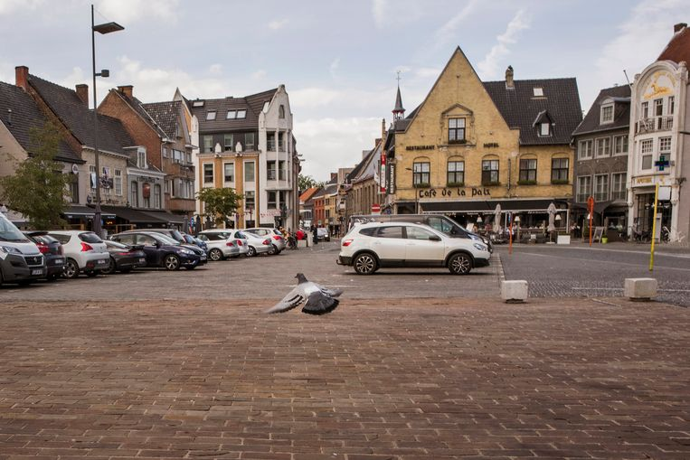 De Grote Markt in Poperinge.