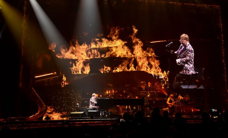Elton John tijdens zijn 'Farewell Yellow Brick Road'-tour in Pennsylvania op 8 september.