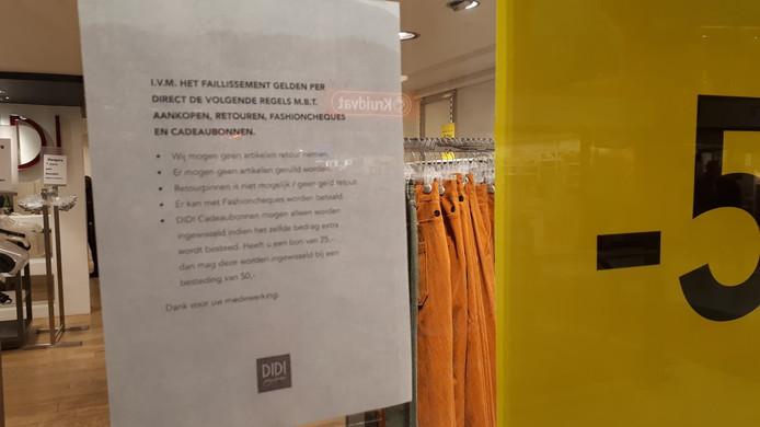 De Didi-vestiging in de Molenpoort in Nijmegen. Maandag is de laatste dag dat de winkel open is.
