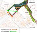 Wegens werkzaamheden aan de Dilt wordt die weg tijdelijk afgesloten. Daarom wordt een tijdelijke route aangelegd.