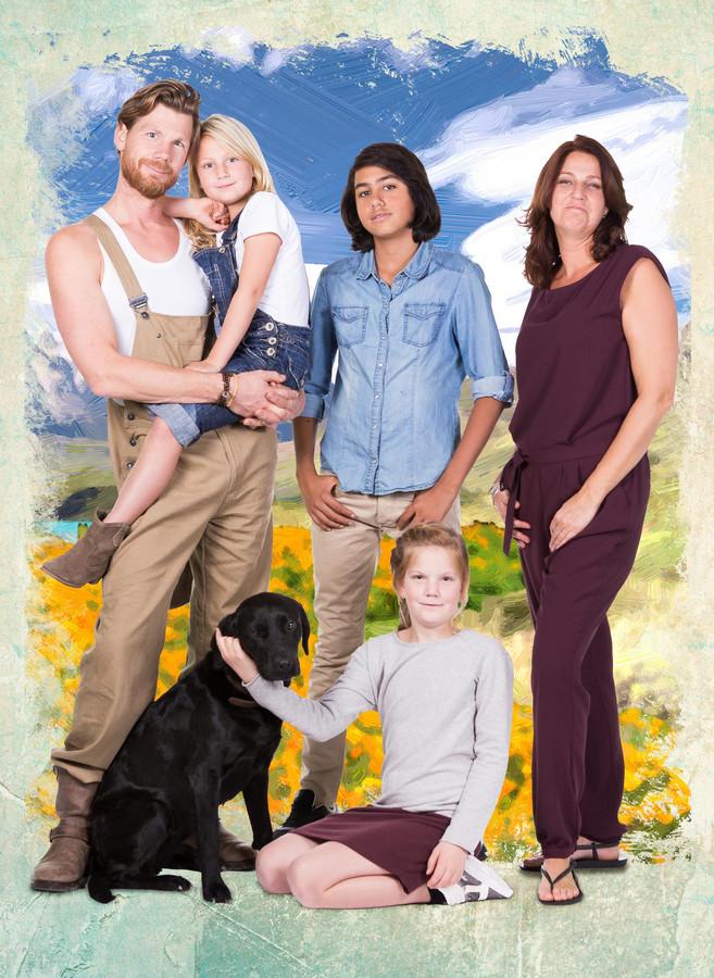 De familie Van Kooij.