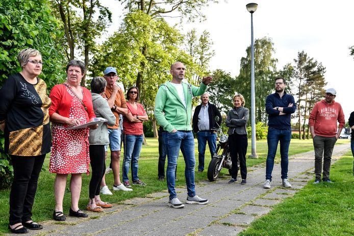 Verschillende buurtbewoners namen deel aan het inspraakmoment voor de herinrichting van speelplein Kruis.