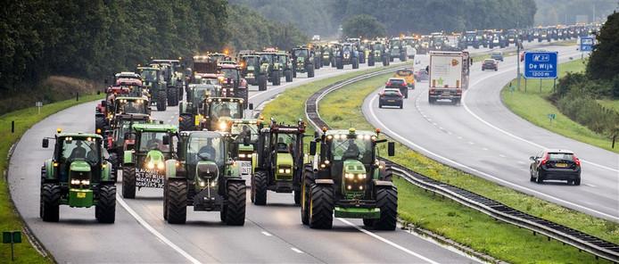Boeren trokken 1 oktober massaal per trekker naar het Malieveld om actie te voeren.