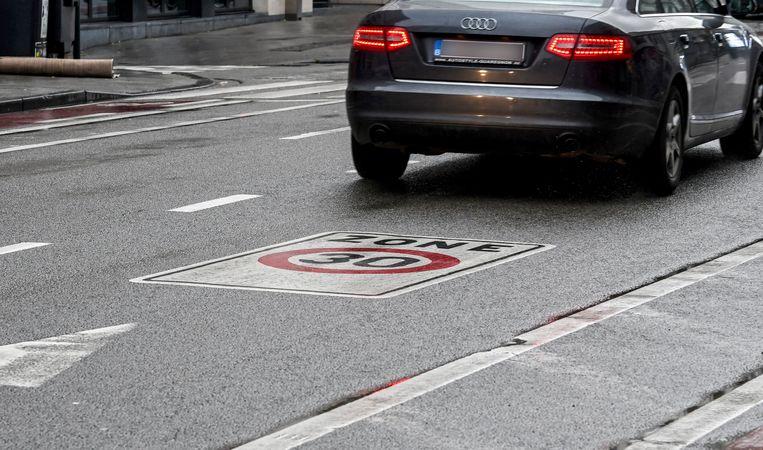 Snelheidsbeperking 30 km per uur in  Brussel.