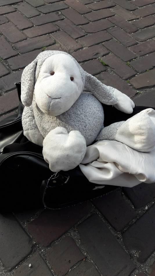Pumba, de knuffel die de brandweer redde bij een brand in de Cartier van Disselstraat in Breda