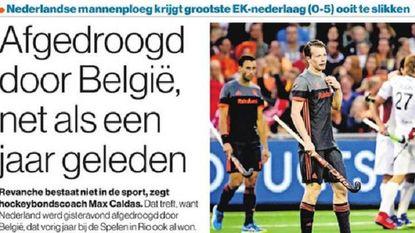 """Oranje likt wonden na historische 0-5 tegen Red Lions: """"Ongekend pak slaag"""" en """"Gezichten op wanhoop"""""""