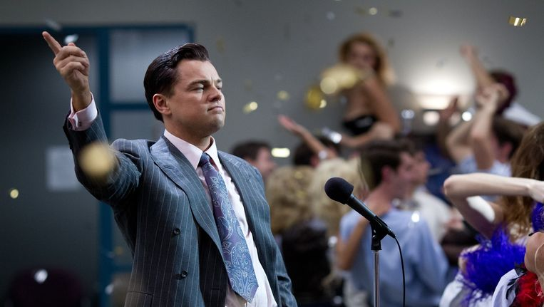Leonardo DiCaprio in The Wolf of Wall Street. Beeld Mary Cybulski