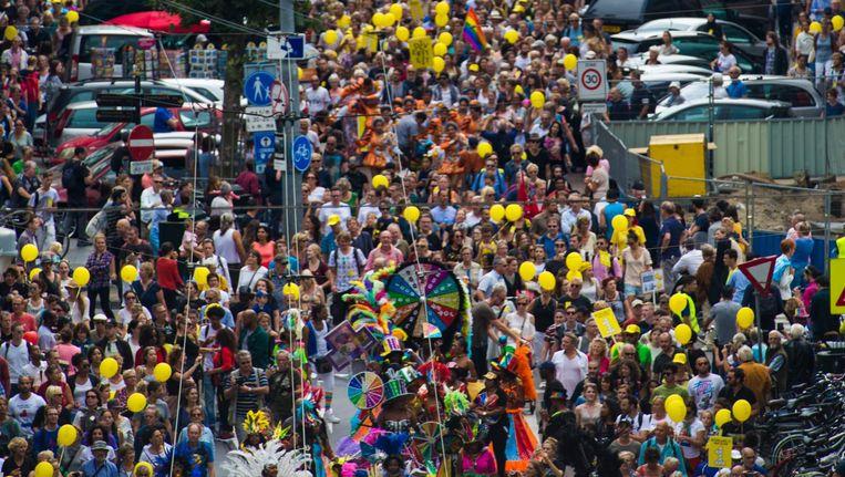 De parade van Ieder1, september 2016, voor saamhorigheid tussen alle Nederlanders Beeld Maarten Brante