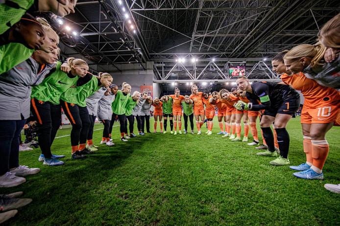 Oranje tijdens de laatste interland van 2019, de zege op Slovenië (4-1).