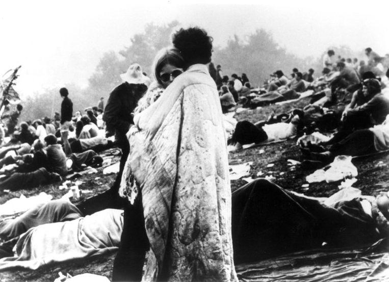 Publiek op Woodstock. Foto AP Beeld