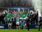 Celtic volmaakt unieke 'unbeaten treble'