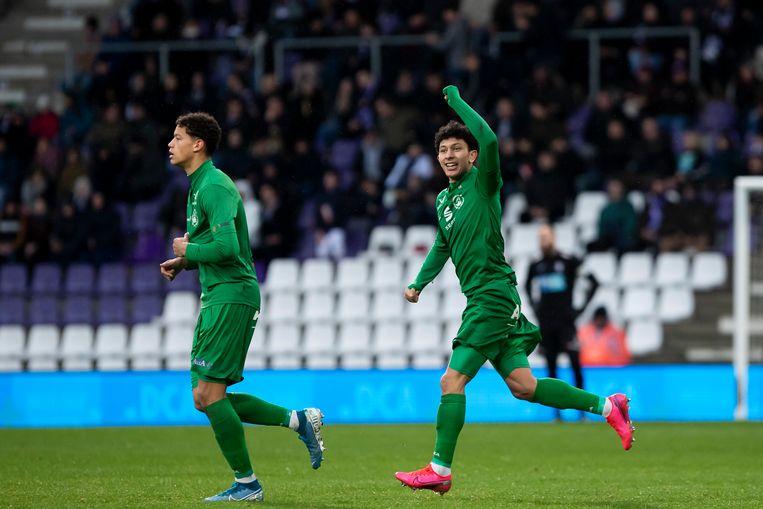 Bij 0-1 zag het er even goed uit voor doelpuntenmaker Aabbou en zijn ploegmaats.