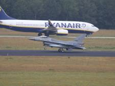 Acht F-16's vliegen tijdelijk vanaf Vliegbasis Eindhoven