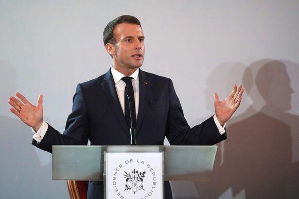 De Franse president Macron.