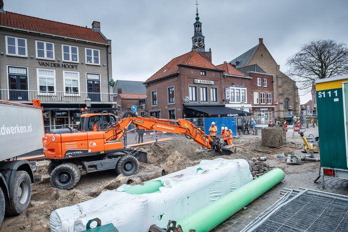 Het deel van de Markt voor de horeca is nu aan de beurt voor vernieuwing.