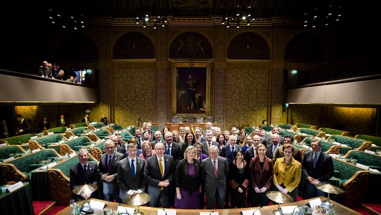 De Europese Commissie en Nederlandse parlementariërs in de Eerste Kamer Beeld anp