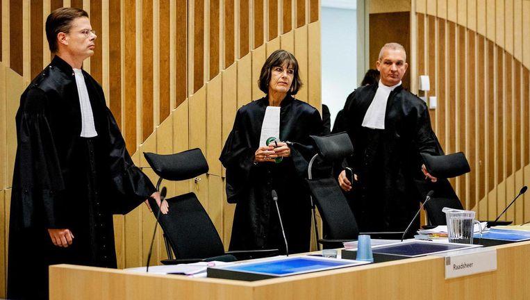 De rechtbank bij aanvang van het hoger beroep in de zaak van de dubbele liquidatie in de Staatsliedenbuurt. Beeld ANP