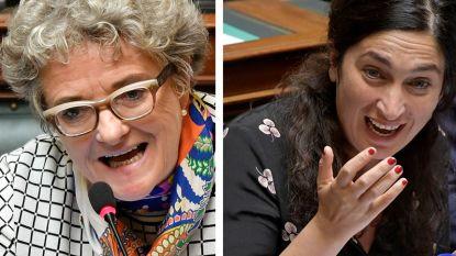 """Monica De Coninck (sp.a) en Zuhal Demir (N-VA) kibbelen in de Kamer: """"We staan hier niet op de markt"""""""
