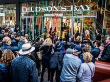 Glitters en confetti op opening Hudson's Bay