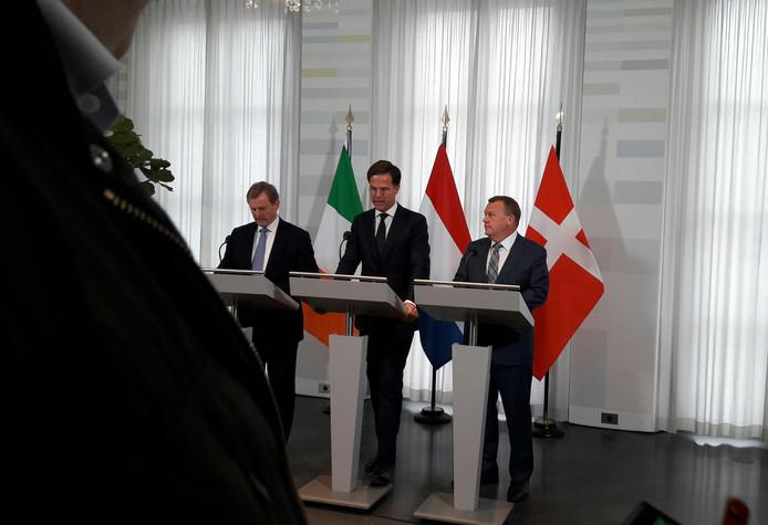 Vlnr: Enda Kenny, Mark Rutte, Lars Lokke Rasmussen