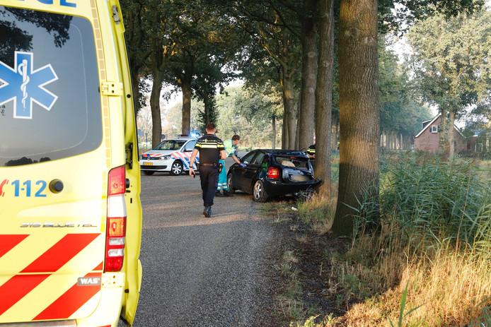 Voor de tweede keer in drie dagen botste een auto op een boom op De Quayweg in Landhorst.