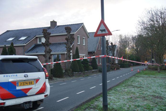 Woning beschoten Nieuwevaart Sprang-Capelle.