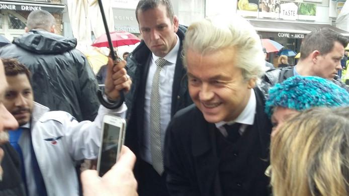 Geert Wilders is aangekomen in Breda.