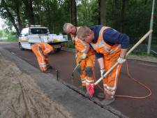 Een gevalletje van niet-goed-gegaan,  dus hup, wéér een nieuwe asfaltlaag in Boxtel