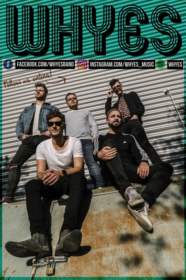 De vijf bandleden van Whyes komen met een eerste single.