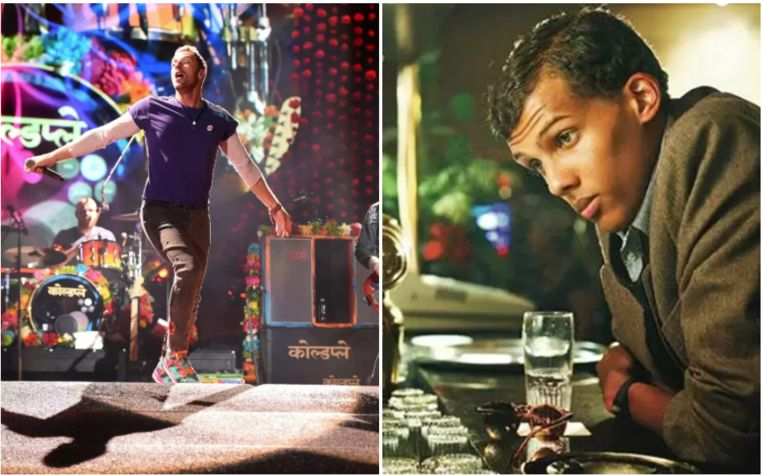 Coldplay en Stromae stonden samen achter de microfoon.