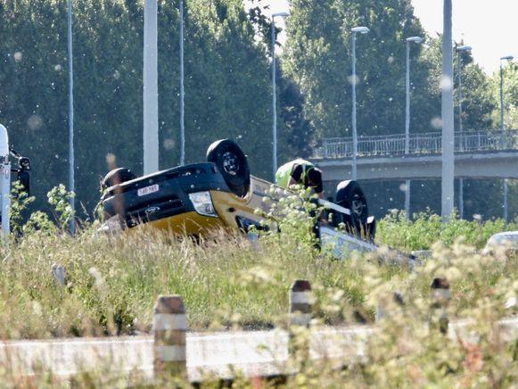Er was flink wat blikschade bij het ongeval.