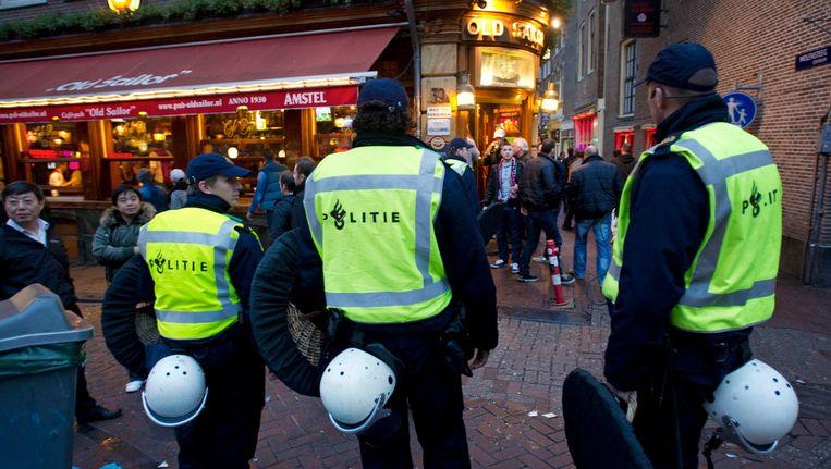 In een schriftelijke verklaring stelt de politie de focus van het zogeheten 'Donkeredagenoffensief' te richten op de Wallen en het Spui Beeld anp