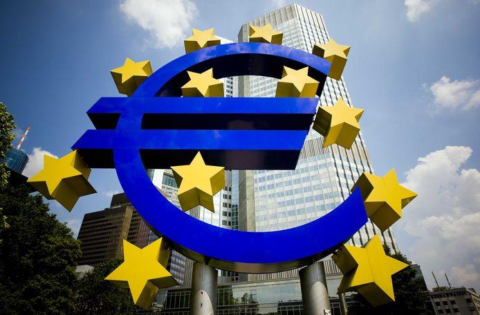 Het gebouw van de ECB.