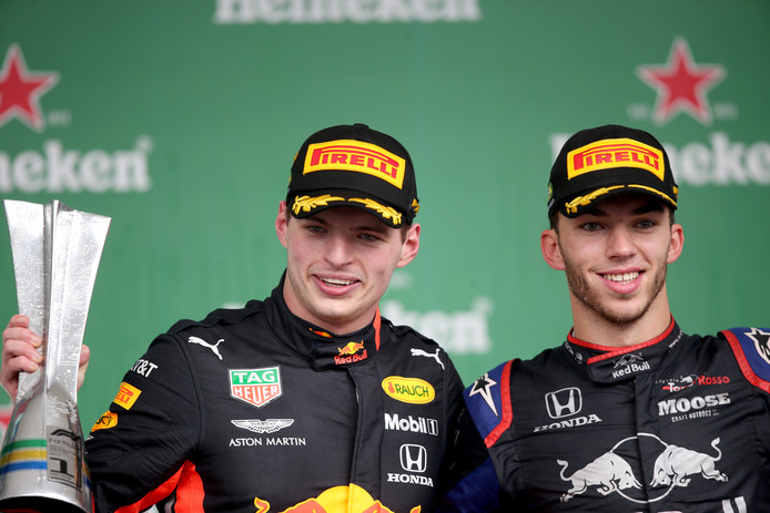 Max Verstappen en Pierre Gasly.