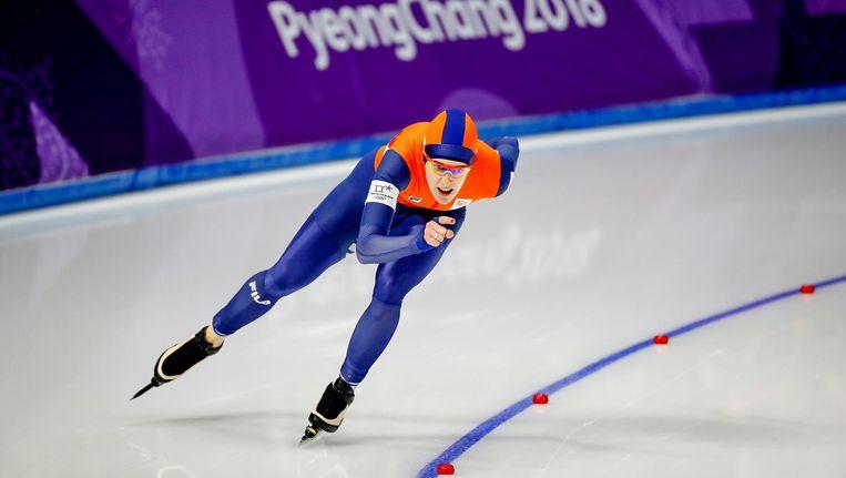 Het meest online bekeken programma 9 t/m 25 februari is de uitzending van de 1000 meter schaatsen voor vrouwen met 408.000 kijkers. Beeld anp