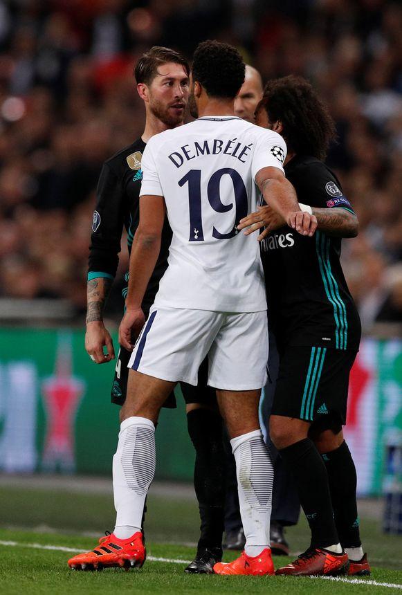 Dembélé kreeg het aan de stok met Sergio Ramos.