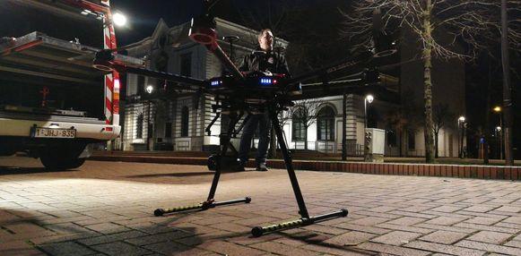 Een drone in actie.