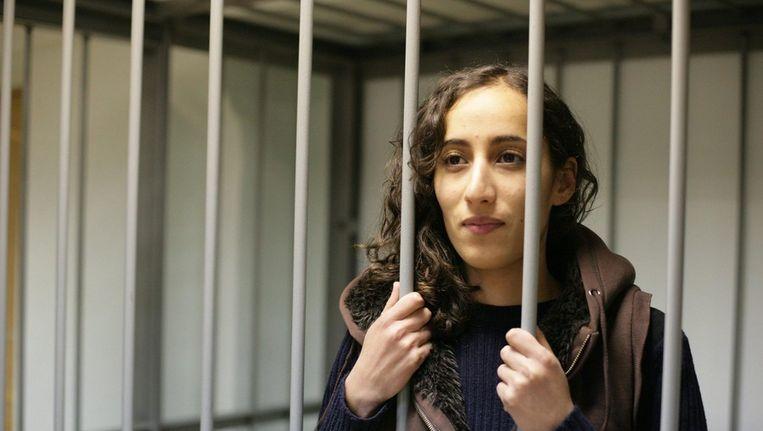 De Nederlandse Faiza Oulahsen in een Russische cel Beeld ANP