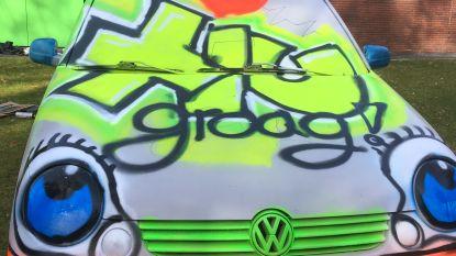 Pimp mijn wrak: leerlingen GITOK leven zich uit met graffiti
