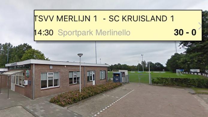 Het terrein van SC Kruisland