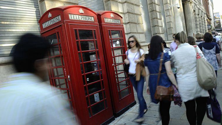 Straatbeeld van Londen. Beeld anp