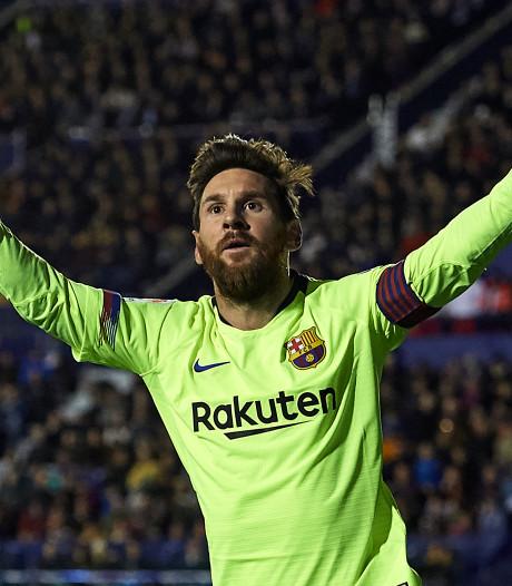 FC Barcelona wint bij Levante dankzij briljante Messi