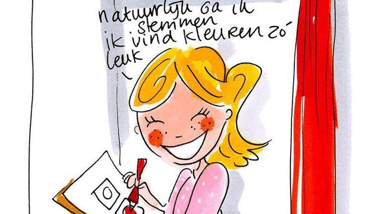 De verkiezingsillustratie van Blond Amsterdam Beeld Facebook / Blond Amsterdam
