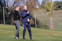 Na een samenwerking bij PEC Zwolle gaan trainer Jaap Stam (r) en directeur Gerard Nijkamp in Cincinnati opnieuw samenwerken.