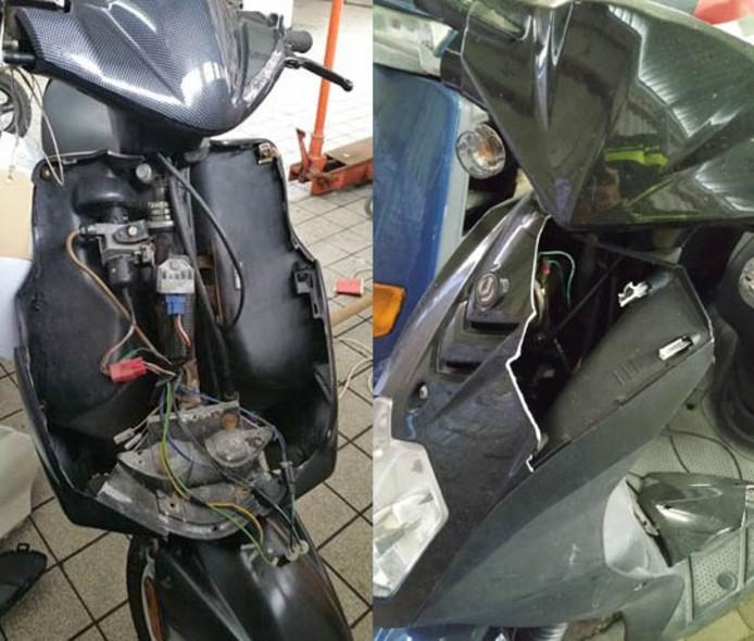 Volgens de politie worden veel scooters kapot teruggevonden.