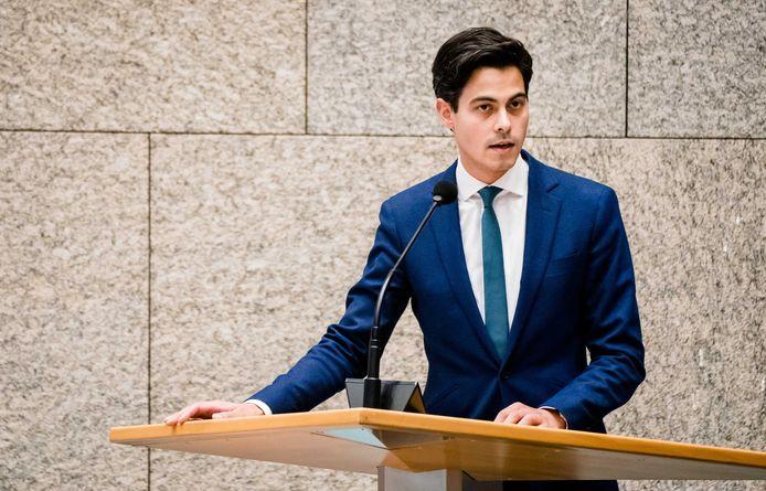 Archiefbeeld april 2020: Rob Jetten (D66) tijdens een debat in de Tweede Kamer
