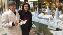 91-jarige Frans verrast winkelierster met winterlandschap