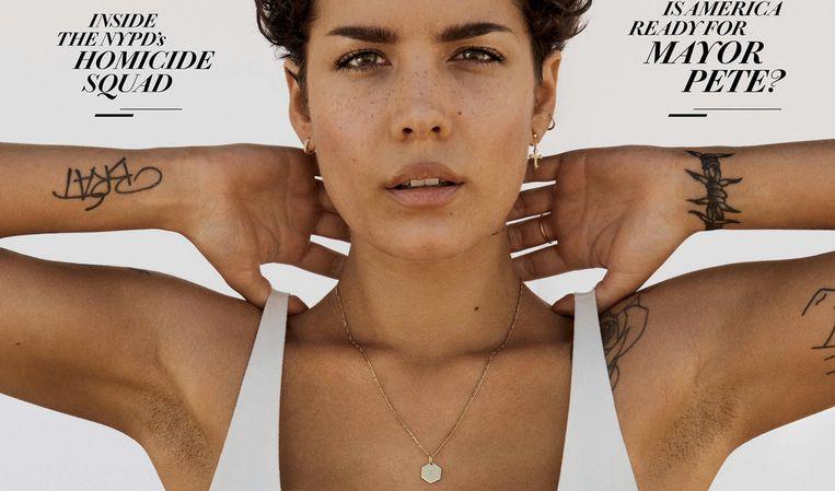 Halsey op de cover van Rolling Stone met zichtbaar okselhaar.