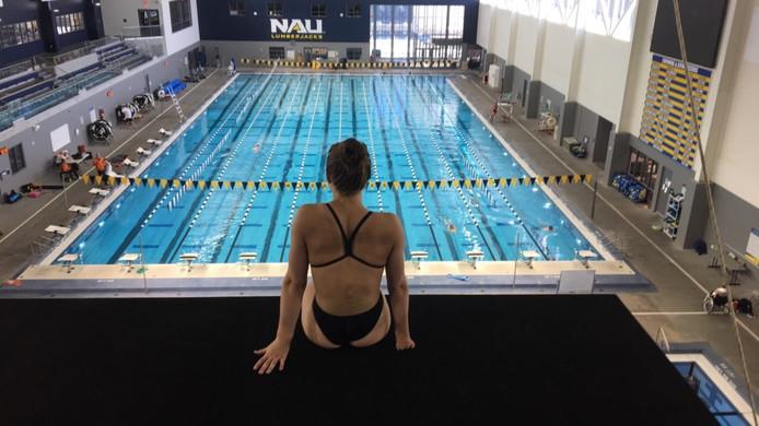 Chantalle Zijderveld tijdens het trainingskamp in Amerika.